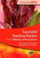 Successful Teaching Practice in the Lifelong Learning Sector PDF