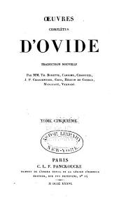 Oeuvres complètes d'Ovide: Volume 5