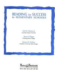 Reading for Success in Elementary Schools PDF