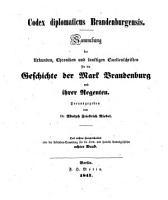 Codex diplomaticus Brandenburgensis PDF
