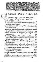 Recueil de diverses pieces pour servir à l'Histoire
