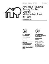 Current Housing Reports: American housing survey for the Detroit metropolitan area in ..., Issue 95
