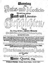 Sammlung von Natur- und Medicin- wie auch hierzu gehörigen Kunst- und Literatur-Geschichten so sich von 1717-26 in Schlesien und anderen Orten begeben ... und als Versuch ans Licht gestellet: Band 27