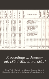 Proceedings ... January 26, 1865[-March 15, 1865]
