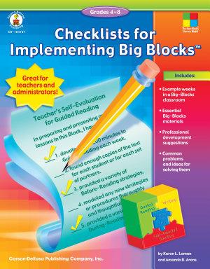 Checklists for Implementing Big BlocksTM  Grades 4   8 PDF