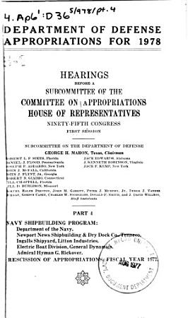 Department of Defense appropriations for 1978 PDF