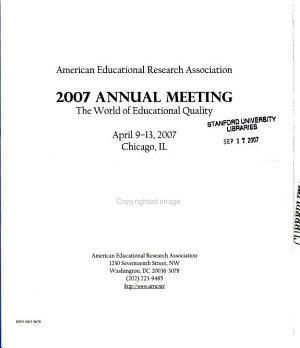 American Educational Research Association Annual Meeting Program PDF