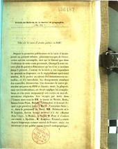 Extrait du Bulletin de la Société de géographie. Mai 1847. Note sur la carte d'Arabie publiée en 1847