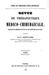 Revue de thérapeutique medico-chirurgicale: 1869