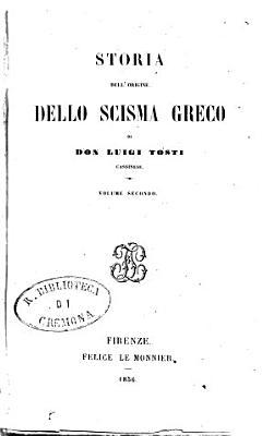 Storia dell origine dello scisma greco PDF