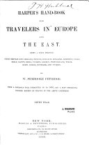 Harper's Hand-book for Travelers in Europe and the East