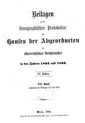 Stenographische Protokolle über die Sitzungen des Hauses der Abgeordneten des österreichischen Reichsrates: Ausgaben 511-599