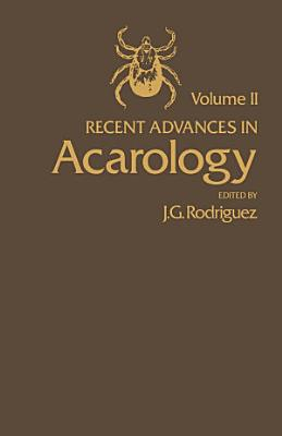 Recent Advances in Acarology PDF