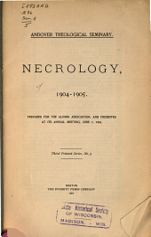 Necrology ...