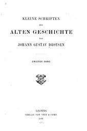 Kleine Schriften zur alten Geschichte: Band 2