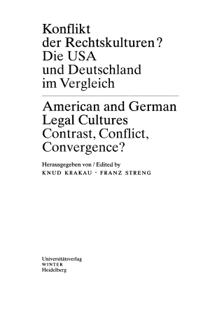 American and German legal cultures PDF