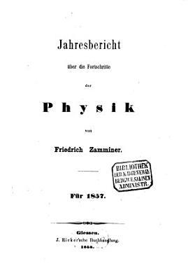 Jahresbericht   ber die Fortschritte der Physik PDF