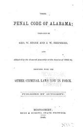 The Penal Code of Alabama