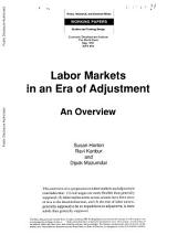 Labor markets in an era of adjustment : an overview