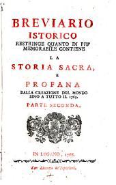Breviario istorico ... dalla creazione del mondo sino a tutto il 1765: Volume 2