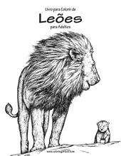 Livro para Colorir de Leões para Adultos 1