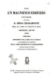 Per un magnifico edifizio fatto eriggere dal signor d. Diego Chiaramonte nella sua patria di Canicatti in Sicilia 1765 Ireneo Affo