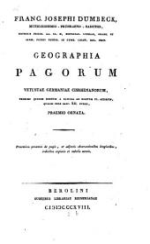 Geographia pagorum vetustae Germaniae cisrhenanorum