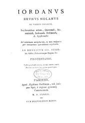 Jordani Bruni Nolani opera latine conscripta publicis sumptibus edita: Volume 2