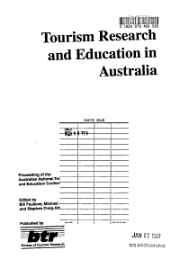 Proceedings from the Australian Tourism and Hospitality Research Conference