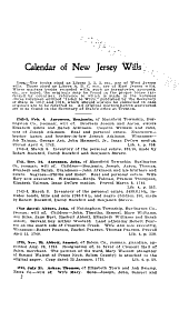 Calendar of New Jersey Wills, Administrations, Etc: Volume 30