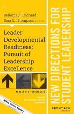 Leader Developmental Readiness  Pursuit of Leadership Excellence PDF