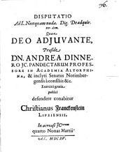 Disputatio Ad L. Nunquam nuda. Dig., De adquir. rer. dom