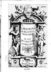 Orationi di Agostino Mascardi...