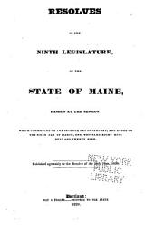 Acts and Resolves as Passed by the ... Legislature