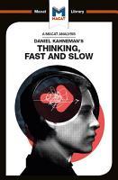 Daniel Kahneman s Thinking  Fast and Slow PDF