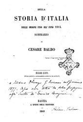 Della storia d'Italia dalle origini fino all'anno 1814 sommario di Cesare Balbo
