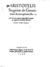 De generatione et corruptione libri duo