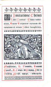 De Imitatione Christi: libri quatuor