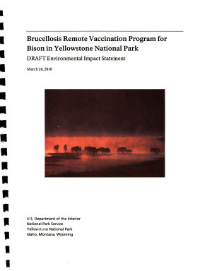 Yellowstone National Park (N.P.), Brucellosis Remote Vaccination Program for Bison