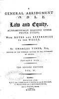 A General Abridgment of Law and Equity PDF