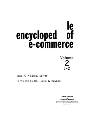 Gale Encyclopedia of E commerce PDF