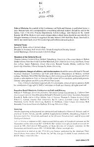 Fides Et Historia PDF