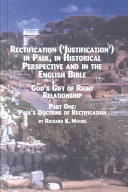 Rectification   justification   in Paul  in Historical Perspective  and in the English Bible PDF