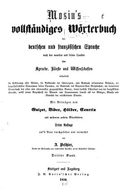 Dictionnaire complet des langues fran  aise et allemande PDF