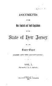 Documents of the Legislature of the State of New Jersey: Volume 110, Part 1