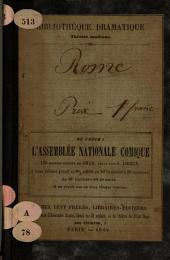 Rome: drame à grand spectacle, en cinq actes et douze tableaux