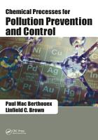 Chemical Processes for Pollution Prevention and Control PDF