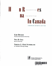 Human Resources Management in Canada PDF