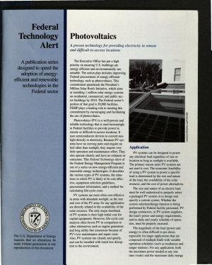 Photovoltaics PDF