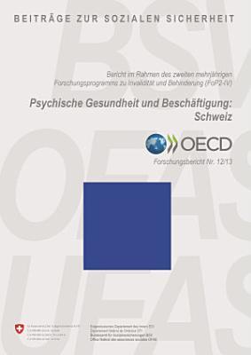 Psychische Gesundheit und Besch  ftigung  Schweiz PDF